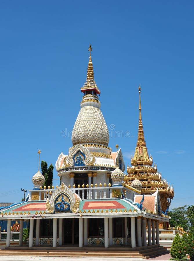 Beautifully crafted stupas royalty free stock image