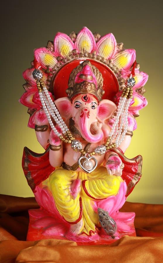 Beautifully Decorated Hindu God Lord Ganesha Statue / Idol stock image