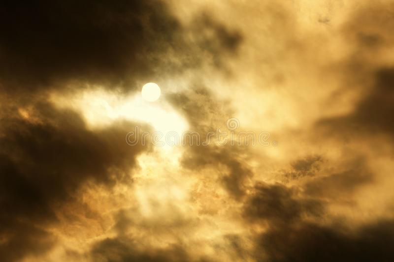 Beautifully Murky Cloudscapes. I can`t keep my eyes off the sky when it is cloudy and the sun travels through stock image