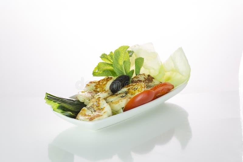 Halloumi grill dish stock image