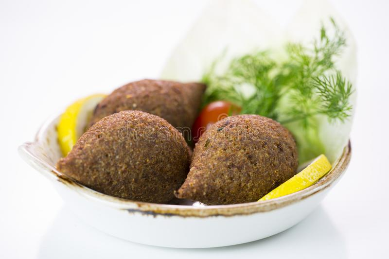 Kibbeh Middle eastern dish royalty free stock photography