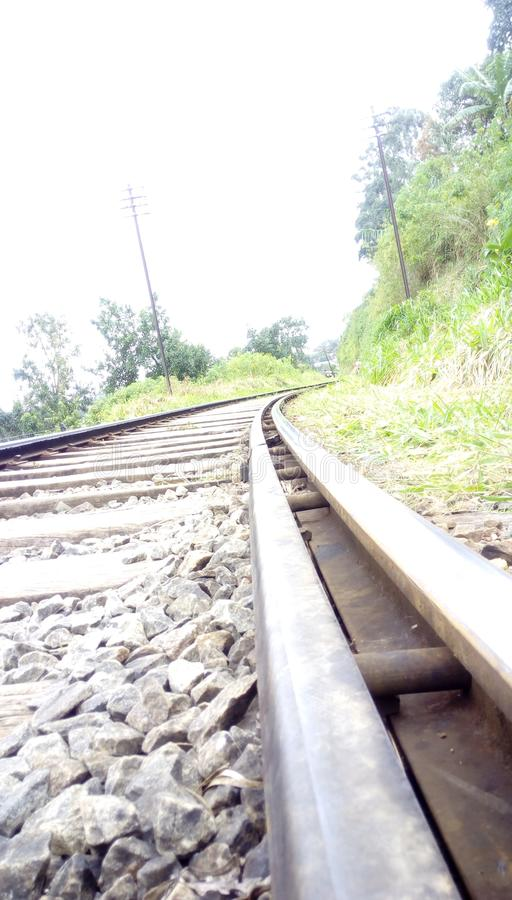 Beautifully Railroad. Tha picture is srilankan railroad of bandarawela stock photography