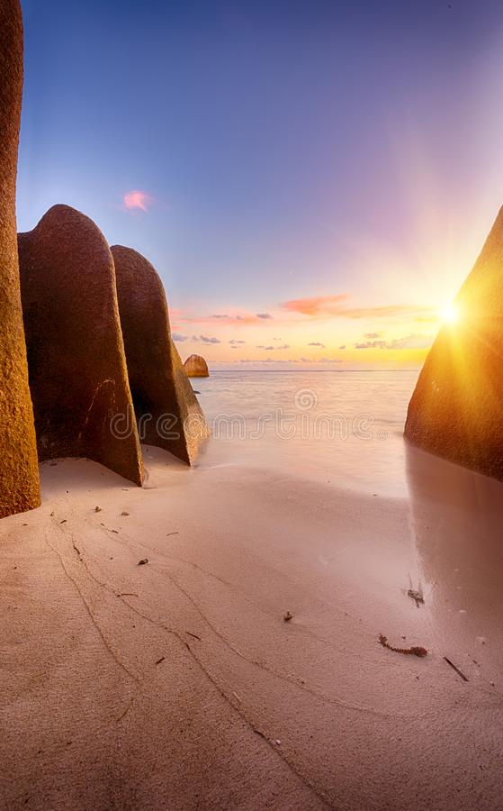 Anse Source d`Argent royalty free stock photos