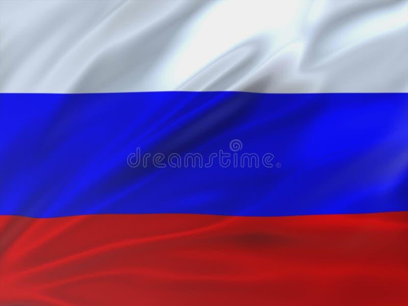 Beautifully vinkande flagga av Ryssland arkivbild
