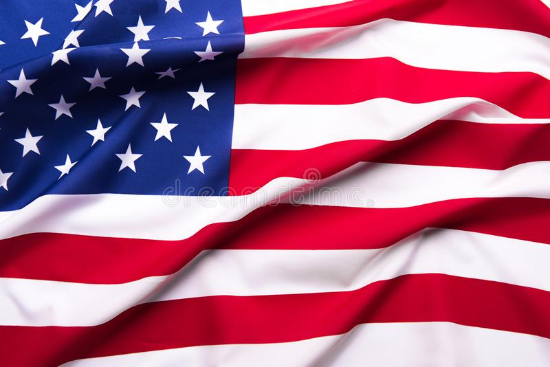 Beautifully waving star and striped American flag. stock image