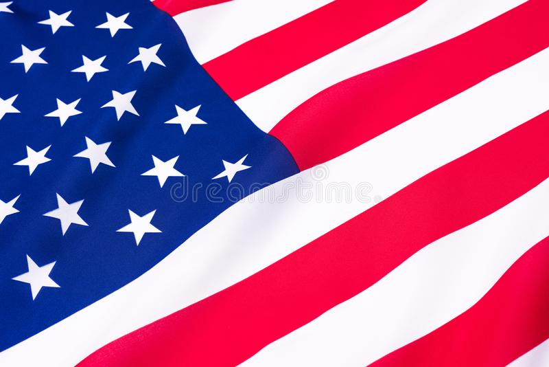 Beautifully waving star and striped American flag. stock photography