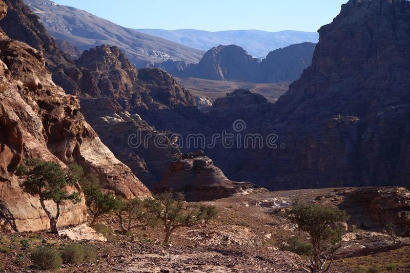 Beautifuls de Petra Mountains fotografia de stock royalty free