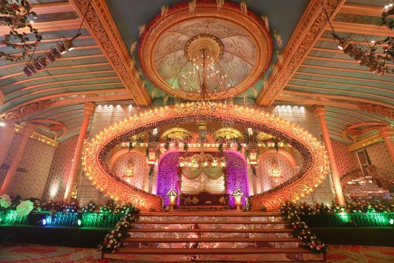 BEAUTIFULWEDDING HALL W DELHI, INDIA zdjęcie stock