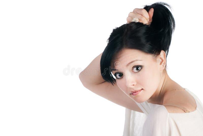 beautifuwhitekvinna royaltyfri bild