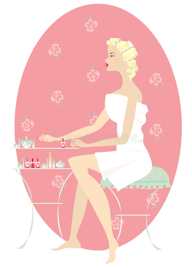 Download Beautifying 1 stock vector. Image of girl, hair, manicure - 872312