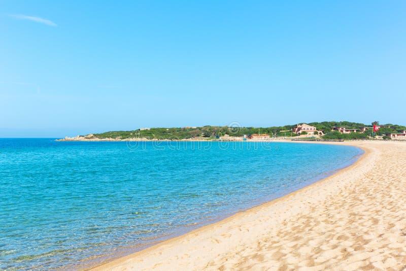 Beautiiful Porto Pollo plaża przy Palau, Sardinia Italy zdjęcia stock