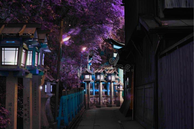 BEAUTUFUL-ECKE IN KYOTO lizenzfreies stockfoto