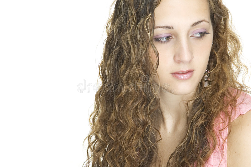 Download Beauty 14 stock image. Image of curly, teenage, hair, demure - 97789