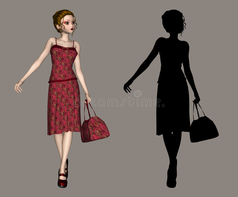 Download Beauty stock illustration. Illustration of lady, pose - 2087732