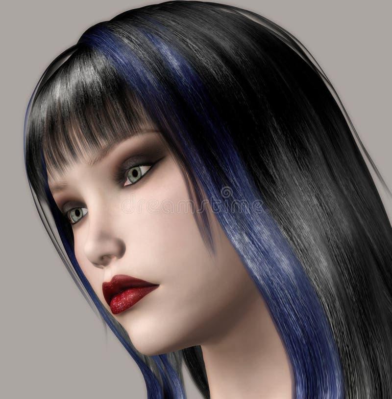Download Beauty stock illustration. Illustration of girls, portrait - 4535878
