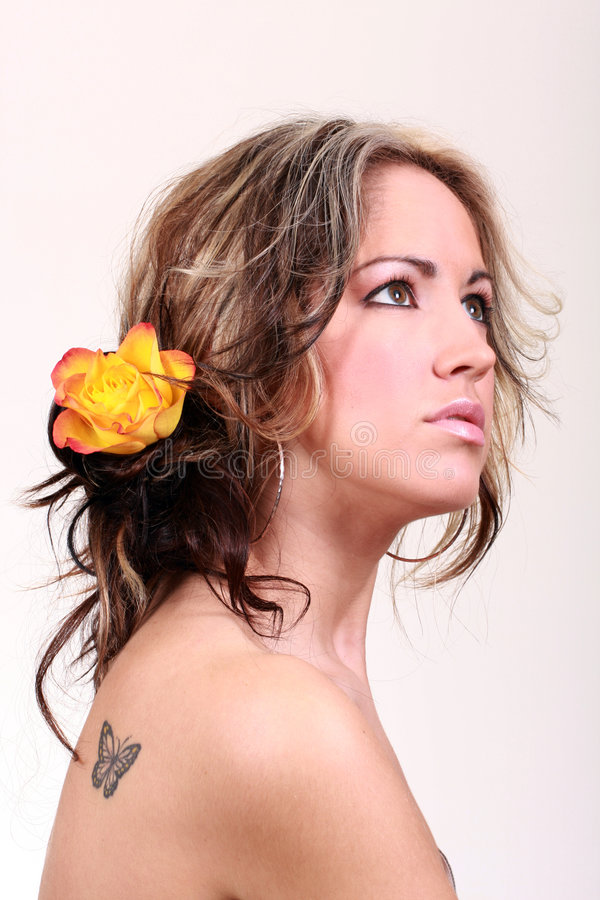 Download Beauty stock image. Image of lips, flower, hair, beautiful - 5120897