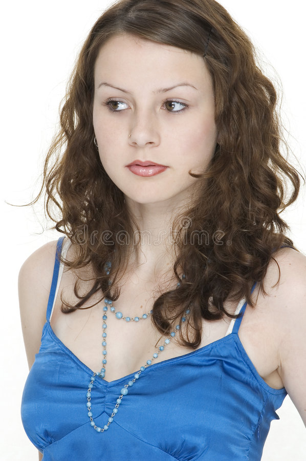 Download Beauty 6 stock image. Image of side, attractive, look, blue - 99557