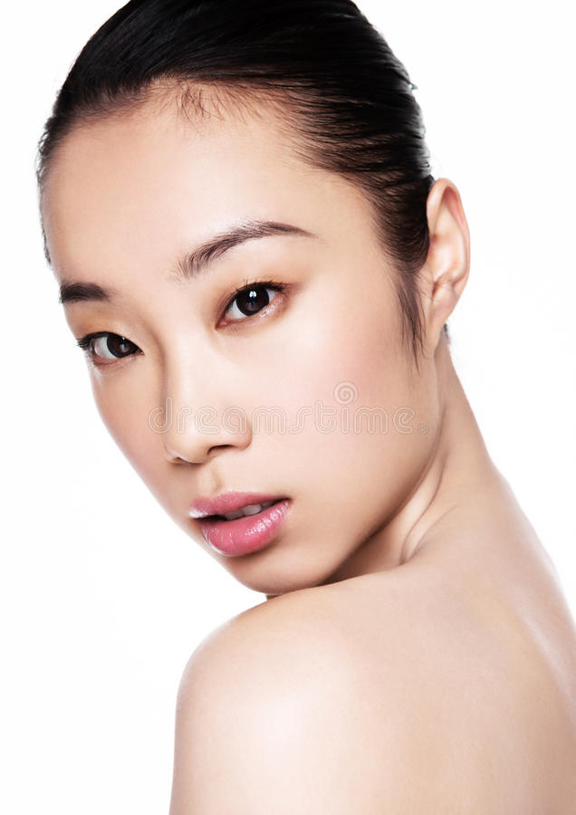 Beauty asian woman health cosmetic makeup portrait royalty free stock images