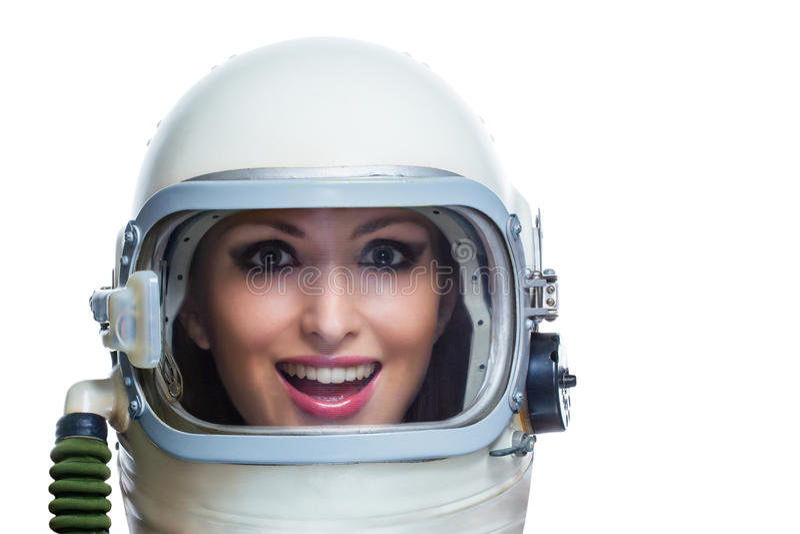 Beauty astronaut stock image