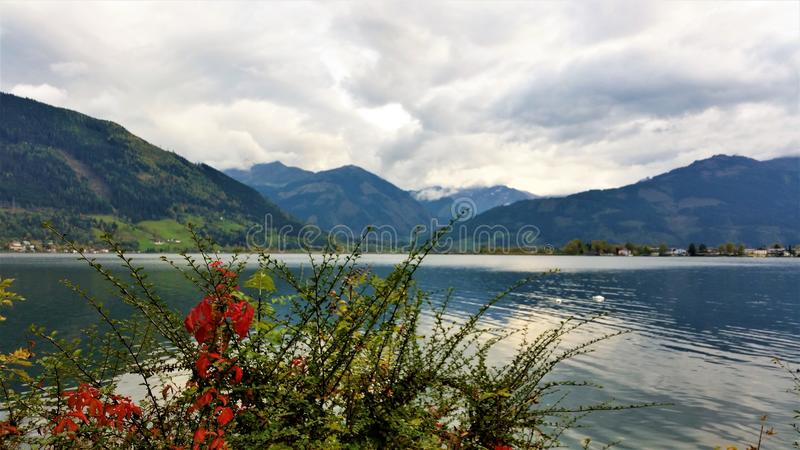 The Beauty of Austria. Lakes and mountains of Austria, stunning scenery stock image