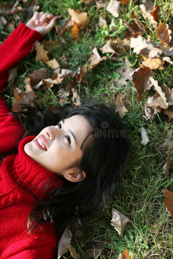 Download Beauty autumn series stock image. Image of mouth, fashion - 6790641