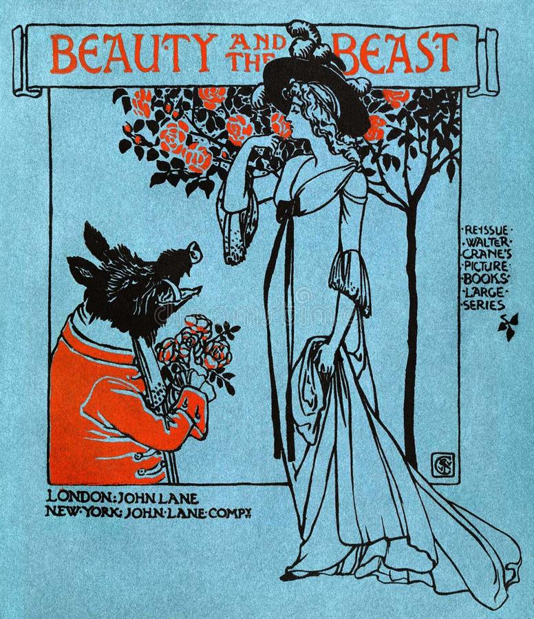 Beauty and the Beast—Front Cover stock images