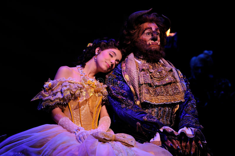 The Beauty and the Beast stock image