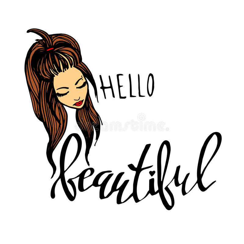Free Beauty Beautiful Hair Vector Girl Portrait Young Stock Photo - 89596090