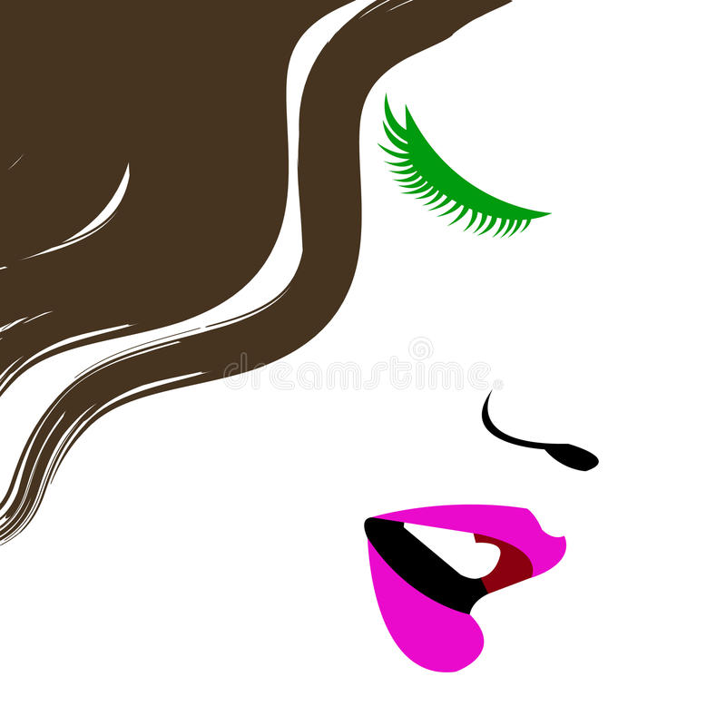 Free Beauty Beautiful Hair Vector Girl Portrait Young Illustration Woman Royalty Free Stock Photos - 88961378