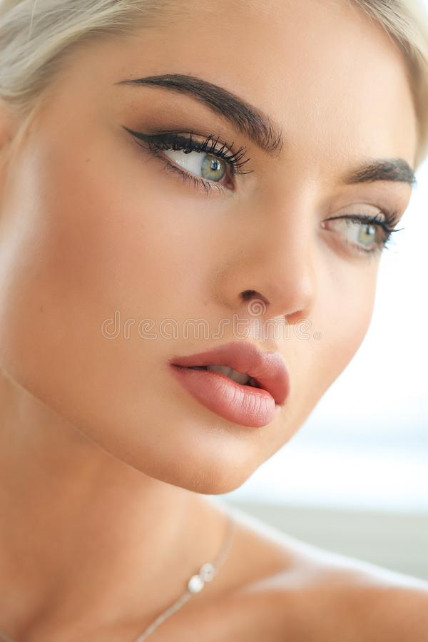 Female beauty in close-up royalty free stock image
