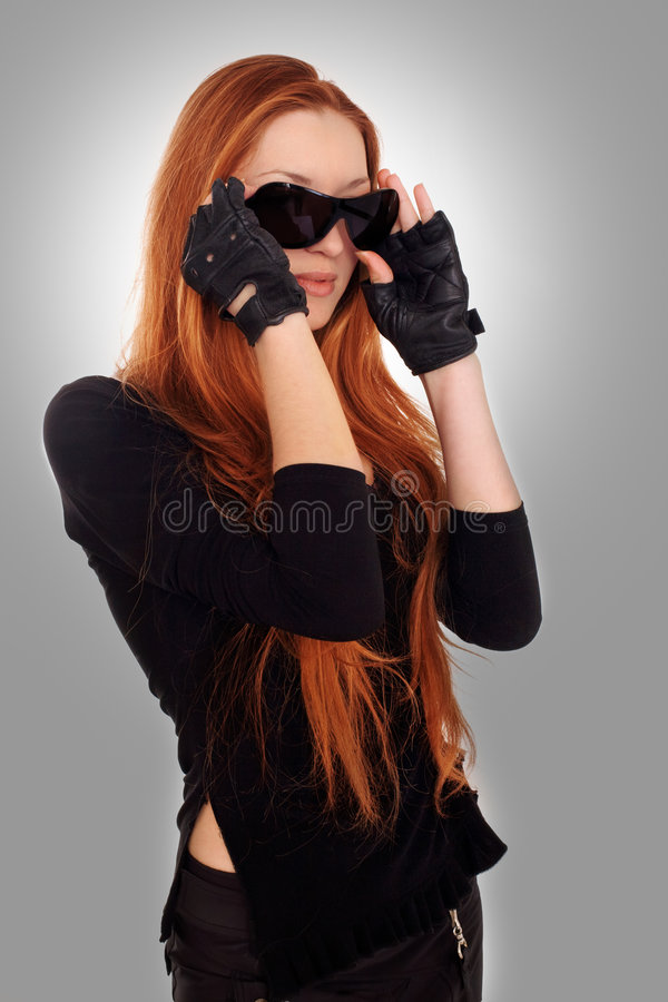 Download Beauty biker girl stock photo. Image of girl, pretty, biker - 4430324