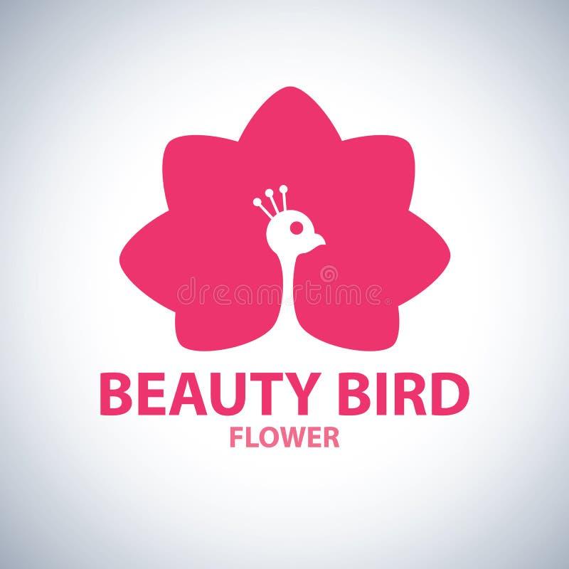 Beauty Bird Flower Symbol Icon Stock Vector Illustration Of