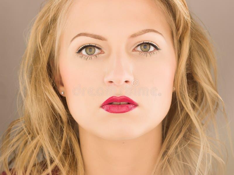 Beauty blond woman stock image