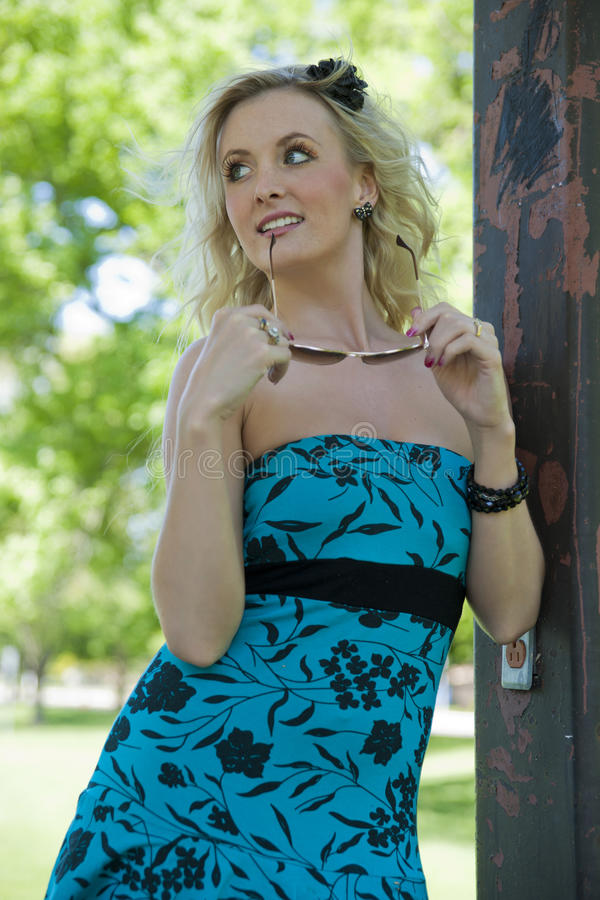 Download Beauty blond woman stock image. Image of eyeshadow, body - 25721847
