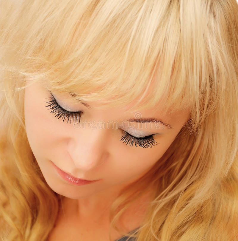 Beauty blond woman royalty free stock photos