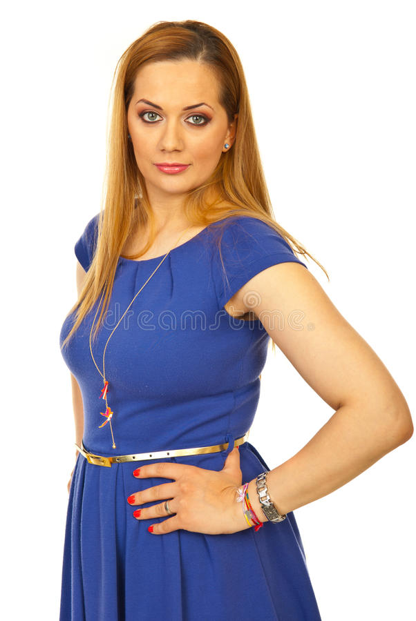 Download Beauty blond woman posing stock image. Image of look - 24348783
