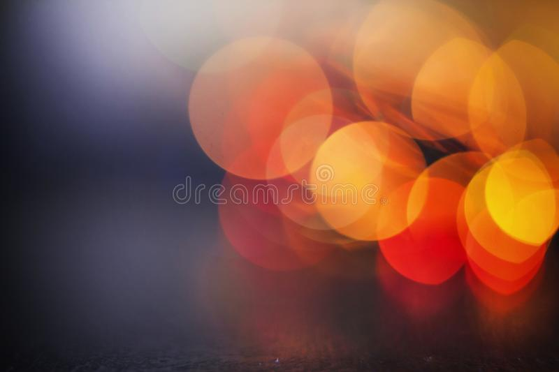 Yellow red lights background. Beauty blurred yellow red glitter vintage lights background. defocused design royalty free stock photos