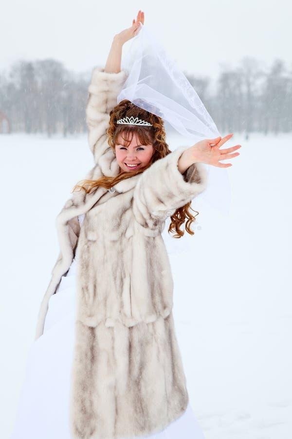 Beauty bride in winter