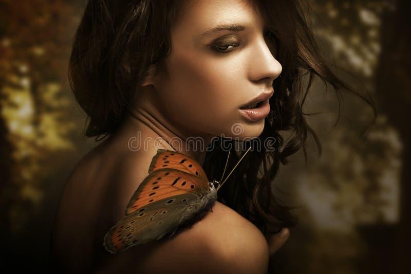 Beauty brunette royalty free stock photography
