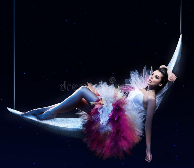 Download Beauty brunette lying stock illustration. Image of lady - 17790003