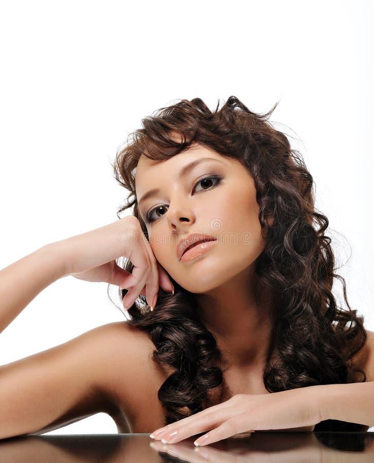 Beauty brunette woman stock image