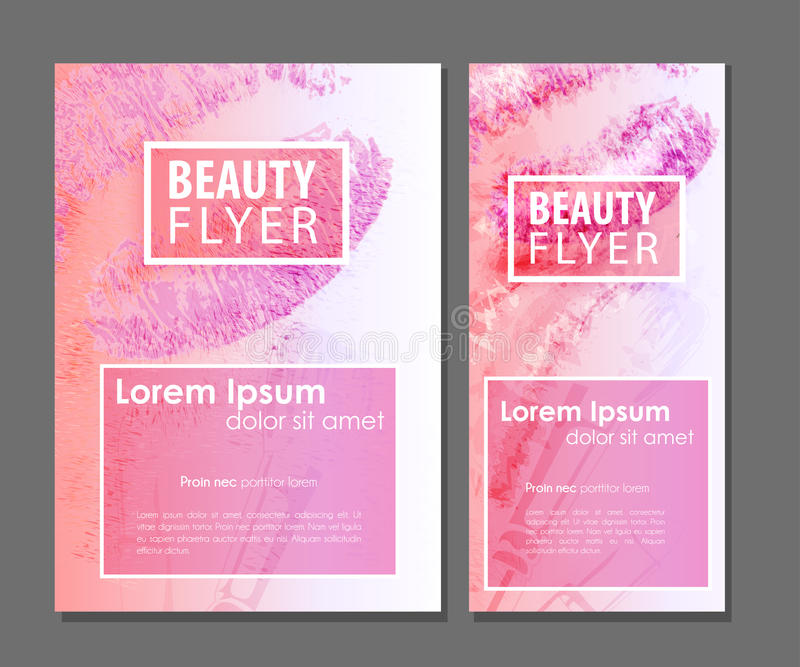 Beauty business card stock vector. Illustration of layout - 73182159