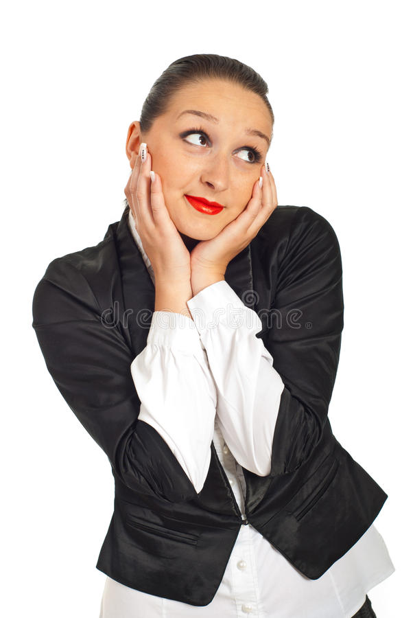 Download Beauty Business Woman Dreaming Stock Image - Image: 19423341
