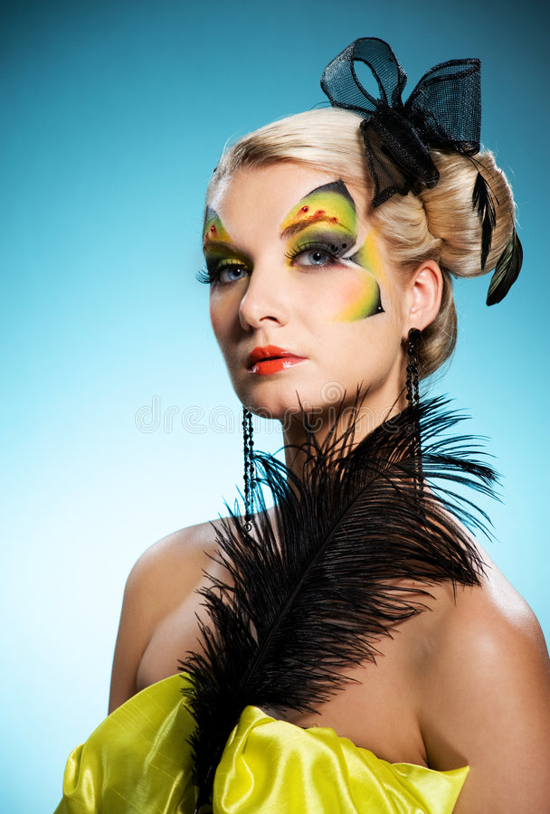 Download Beauty With Butterfly Face-art Stock Image - Image of caucasian, eyelashes: 8737697