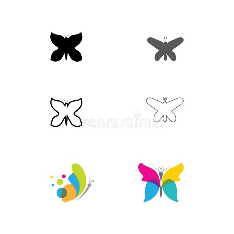 Beauty Butterfly icon design. Beauty Butterfly Vector icon design, art, beautiful, bright, circle, color, colorful, concept, cosmetics, creative, element stock illustration