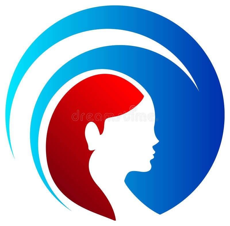 Beauty care. Isolated illustrated logo design royalty free illustration