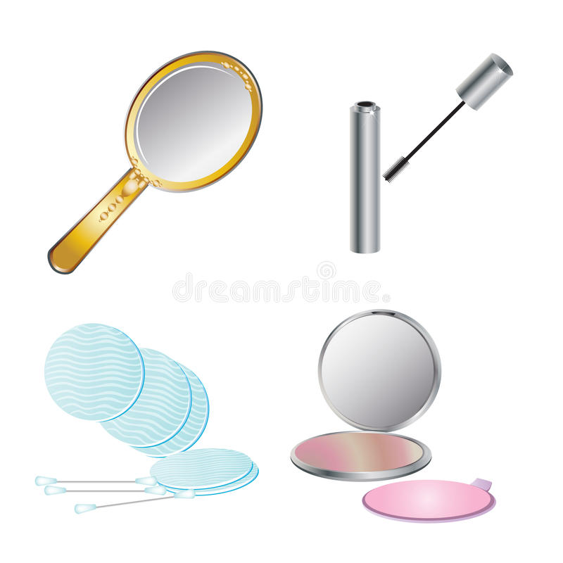 Beauty care objects stock illustration