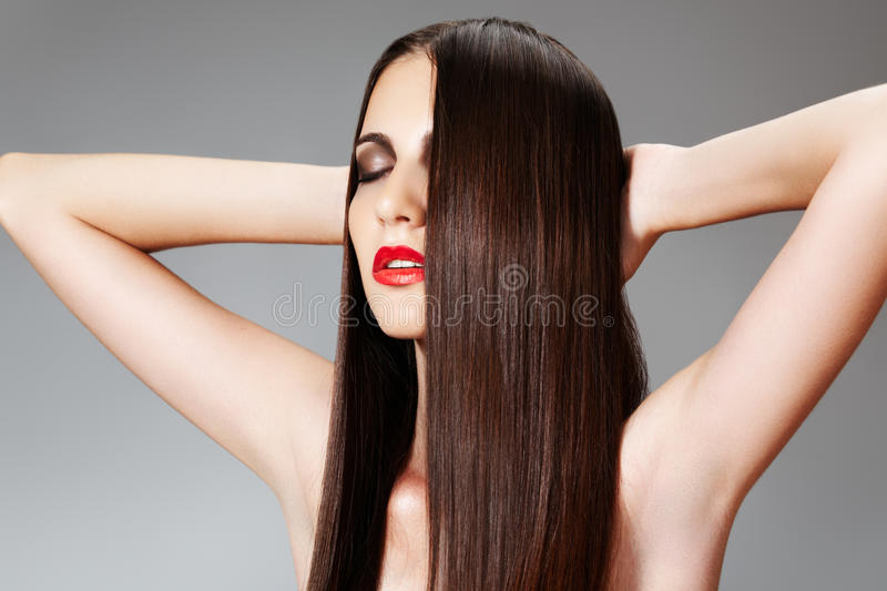Download Beauty Care. Woman With Shiny Slicked Hairstyle Stock Photography - Image: 15374392
