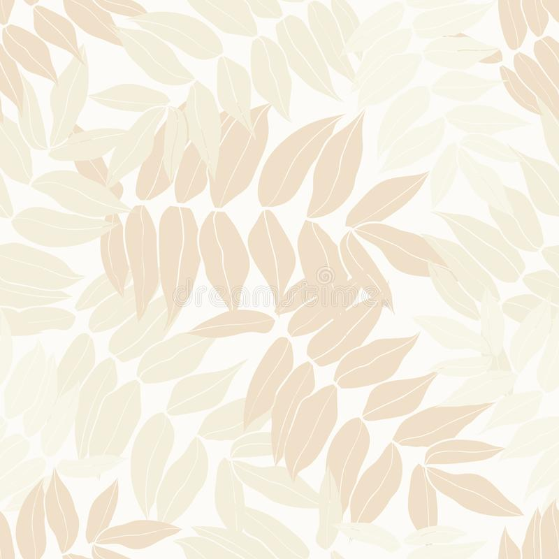 Beauty cartoon tropical seamless leaves pattern design royalty free stock images