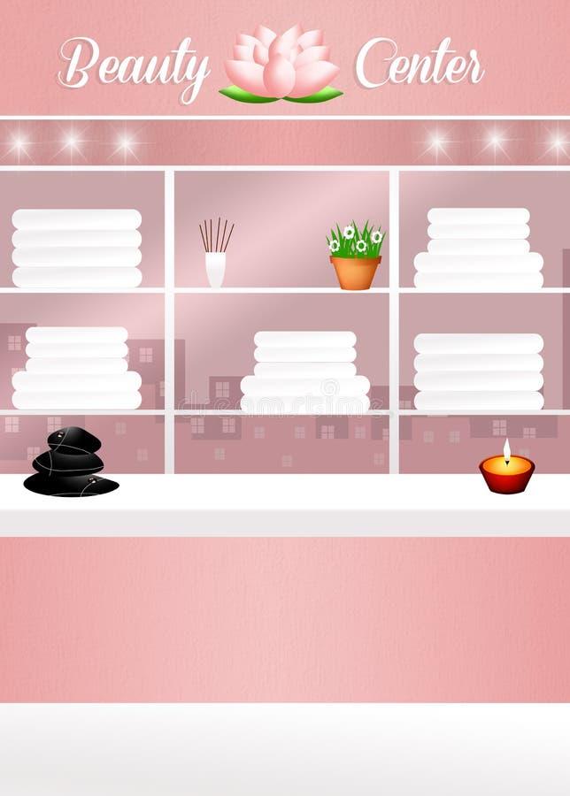 Beauty Center. Illustration of Beauty Center interior